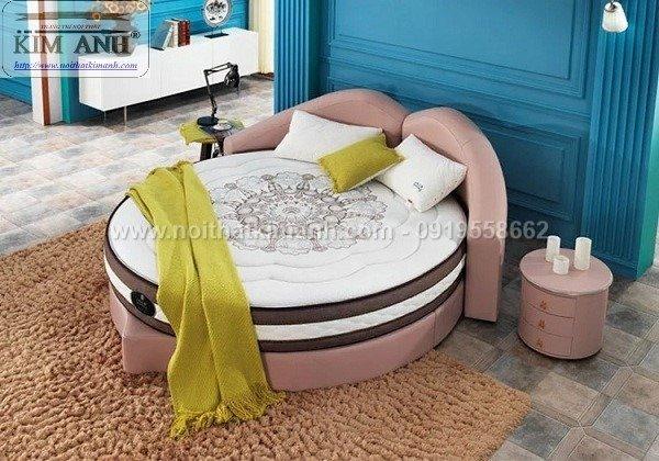 Giường tròn ngọc trinh, mẫu giường tròn cho bé gái sang chảnh sành điệu4