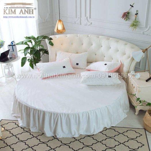 Giường tròn ngọc trinh, mẫu giường tròn cho bé gái sang chảnh sành điệu2