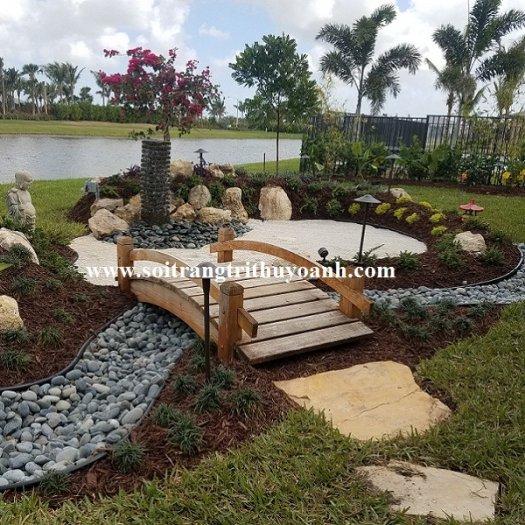 Sỏi trang trí cảnh quan resort34