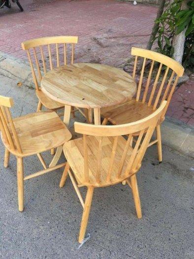 Bộ bàn ghế gỗ cà phê hiện đại giá rẻ0