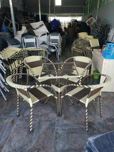 Bộ bàn ghế mây nhựa cao cấp giá tại xưỡng0