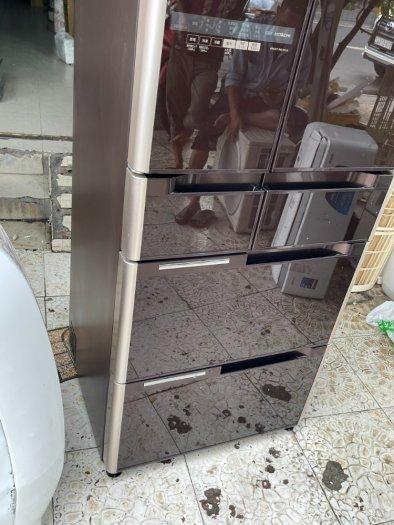 Tủ lạnh nội địa Nhật HITACHI R-C4800 mặt gương 475L hút chân không cao cấp9