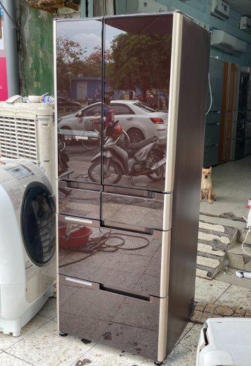Tủ lạnh nội địa Nhật HITACHI R-C4800 mặt gương 475L hút chân không cao cấp4