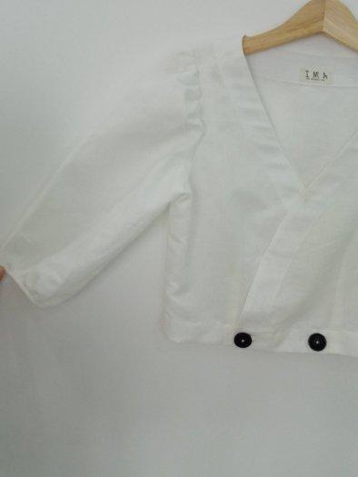 Áo Crotop tay lỡ màu trắng trơn thời trang nữ trẻ trung A51