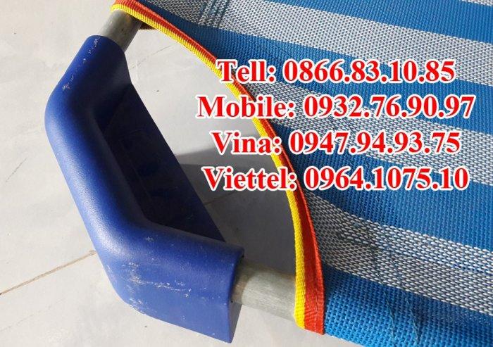 Giường lưới xanh dương-xanh rêu nhập khẩu giá rẻ tphcm5