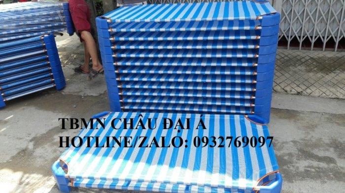 Giường lưới xanh dương-xanh rêu nhập khẩu giá rẻ tphcm3