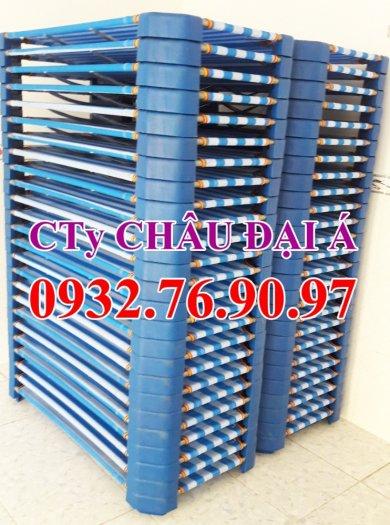 Giường lưới xanh dương-xanh rêu nhập khẩu giá rẻ tphcm2
