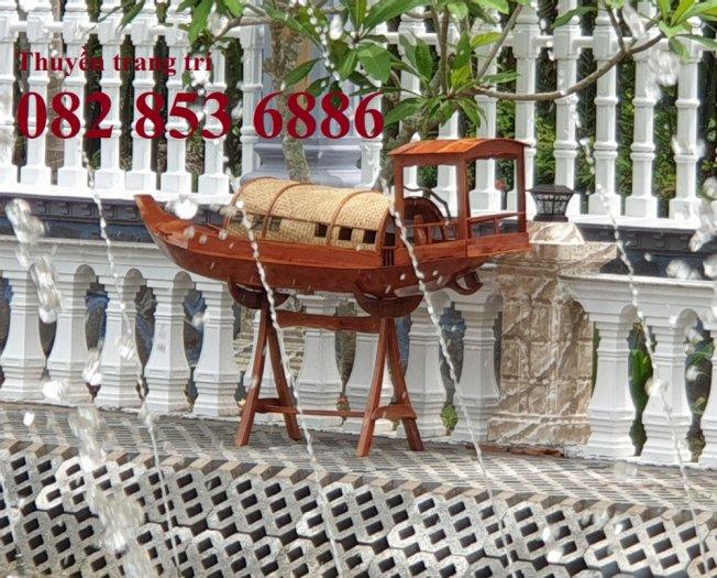 Thuyền gỗ trang trí quán cafe, Thuyền gỗ nhà hàng 2m, 3m, 4m9