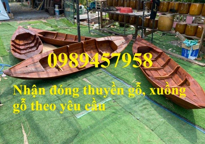 Thuyền gỗ trang trí quán cafe, Thuyền gỗ nhà hàng 2m, 3m, 4m4