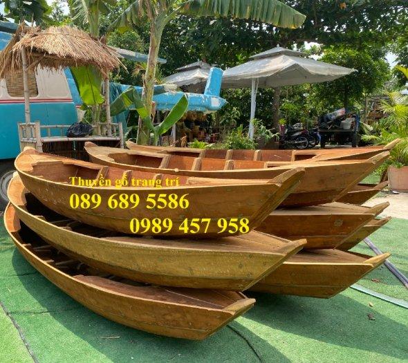 Thuyền gỗ trang trí quán cafe, Thuyền gỗ nhà hàng 2m, 3m, 4m3