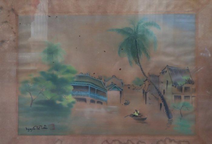 Tranh lụa nữ họa sĩ Nguyễn Thị Tâm2