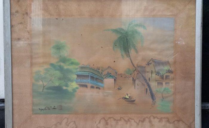 Tranh lụa nữ họa sĩ Nguyễn Thị Tâm0