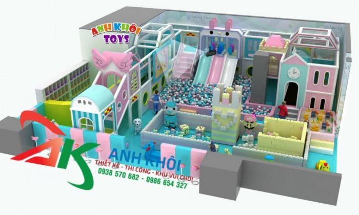 Lắp đặt khu vui chơi,thiết kế thi công trọn gói khu vui chơi trong nhà5