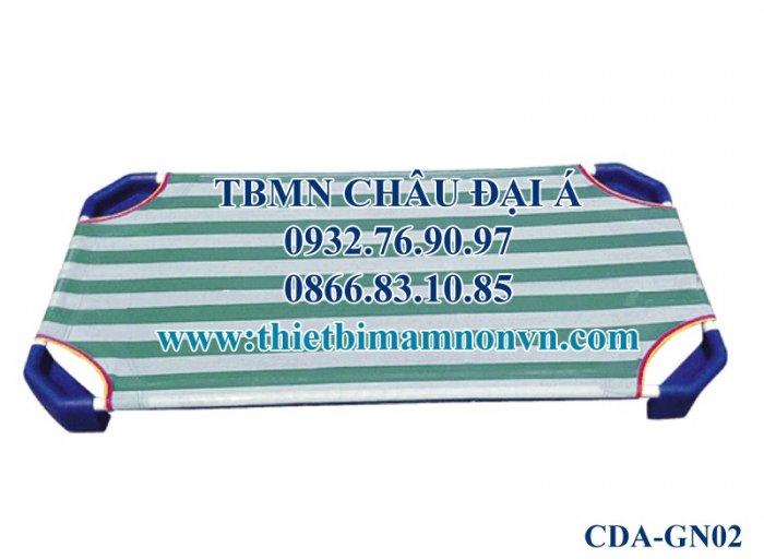 Giường sọc xanh vải lưới cao cấp không co giãn3