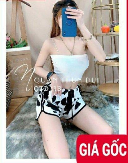 Quần Sọt Thun Nữ Hình Bò Sữa1