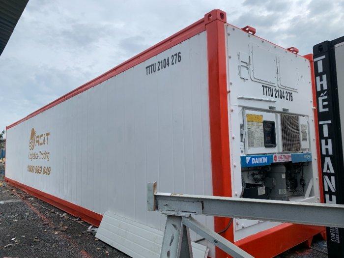 Container lạnh 40feet chạy hàng thực phẩm nhập khẩu1