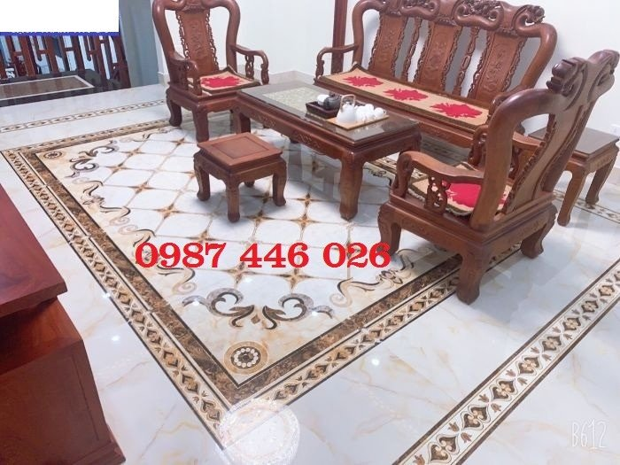 Thảm gạch sàn nhà, gạch trang trí khổ lớn HP01664