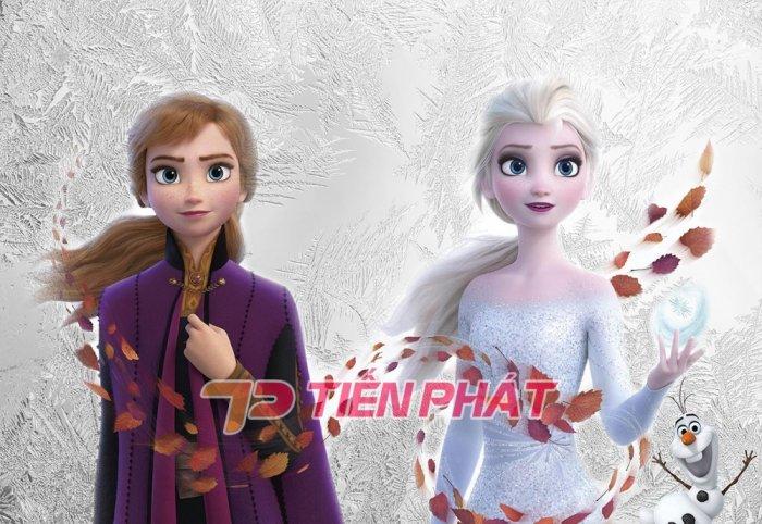 Tranh Dán Tường 3D Cho Trẻ Em Công Chúa Elsa TTE8011- Chất Liệu: PP Kim Sa Cao Cấp- Kích Thước: Khổ 1.25mx 1m18