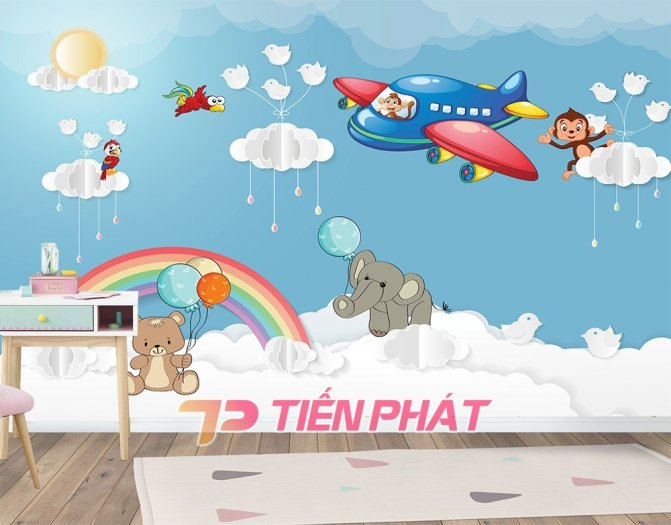 Tranh Dán Tường 3D Cho Trẻ Em Công Chúa Elsa TTE8011- Chất Liệu: PP Kim Sa Cao Cấp- Kích Thước: Khổ 1.25mx 1m16