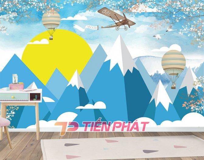 Tranh Dán Tường 3D Cho Trẻ Em Công Chúa Elsa TTE8011- Chất Liệu: PP Kim Sa Cao Cấp- Kích Thước: Khổ 1.25mx 1m15