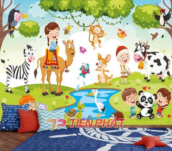 Tranh Dán Tường 3D Cho Trẻ Em Công Chúa Elsa TTE8011- Chất Liệu: PP Kim Sa Cao Cấp- Kích Thước: Khổ 1.25mx 1m11