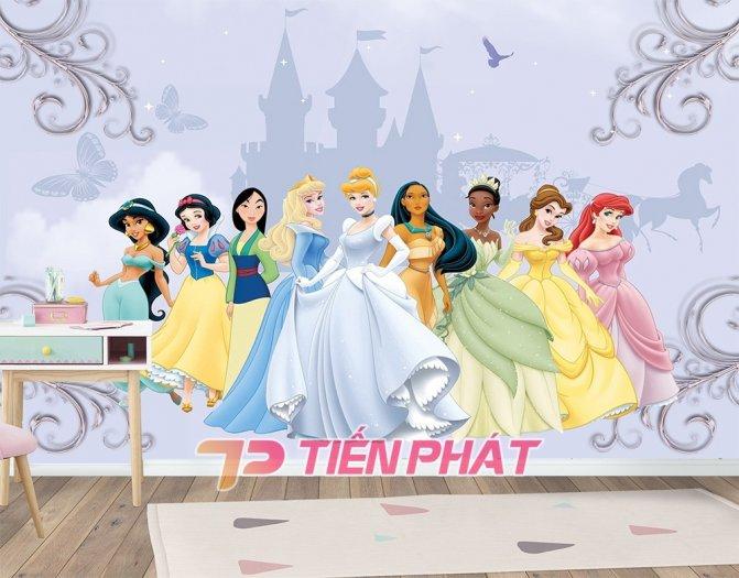 Tranh Dán Tường 3D Cho Trẻ Em Công Chúa Elsa TTE8011- Chất Liệu: PP Kim Sa Cao Cấp- Kích Thước: Khổ 1.25mx 1m6