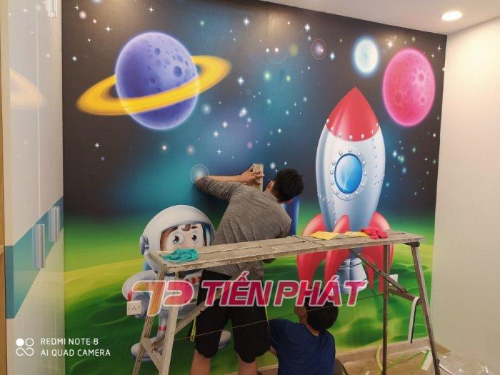 Tranh Dán Tường 3D Cho Trẻ Em Công Chúa Elsa TTE8011- Chất Liệu: PP Kim Sa Cao Cấp- Kích Thước: Khổ 1.25mx 1m3