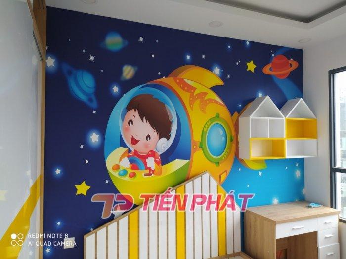 Tranh Dán Tường 3D Cho Trẻ Em Công Chúa Elsa TTE8011- Chất Liệu: PP Kim Sa Cao Cấp- Kích Thước: Khổ 1.25mx 1m1