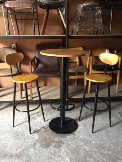 Bộ bàn ghế bảr chân sắt đẹp hàng cao cấp0