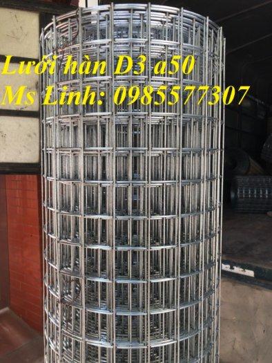 Lưới thép hàn mạ kẽm D3 a50x50, D4 a50x50 hàng sẵn kho3
