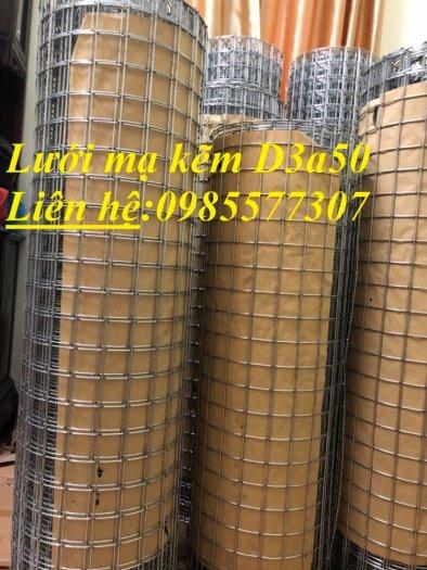 Lưới thép hàn mạ kẽm D3 a50x50, D4 a50x50 hàng sẵn kho0