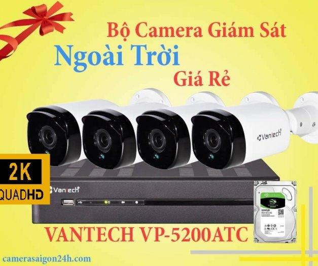 Bộ 4 camera 2K ngoài trời Vantech khuyến mãi1