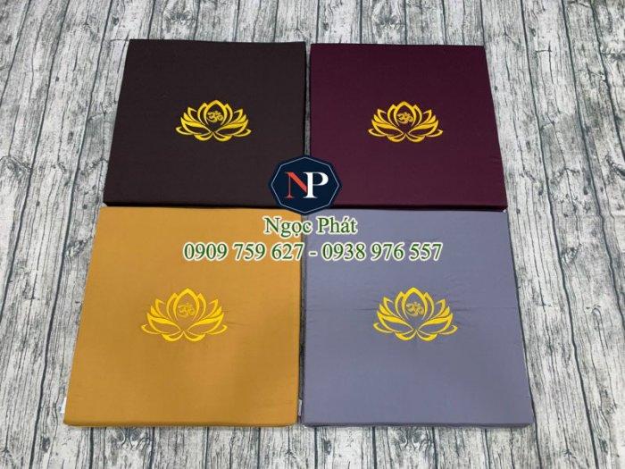 Nệm Ngồi Thiền 50x50x5cm Bông Sen Vàng - Nệm Ngồi Yoga11