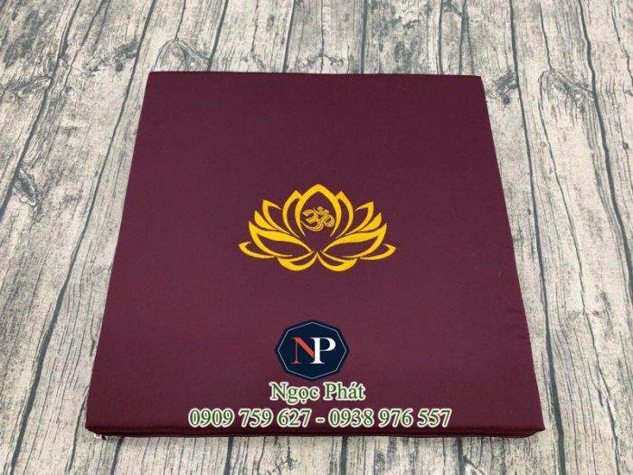 Nệm Ngồi Thiền 50x50x5cm Bông Sen Vàng - Nệm Ngồi Yoga8