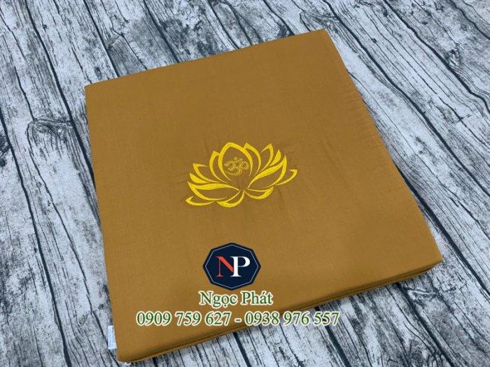 Nệm Ngồi Thiền 50x50x5cm Bông Sen Vàng - Nệm Ngồi Yoga6