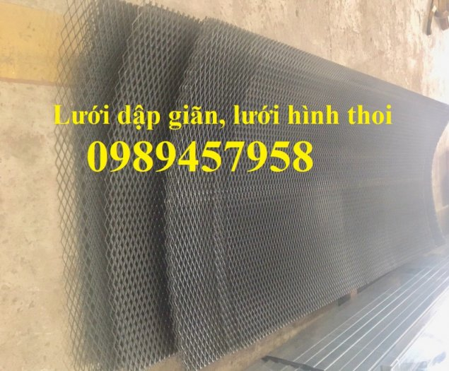 Sản xuất lưới thép dập giãn, Lưới hình thang, Lưới dập giãn inox6