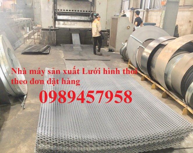 Sản xuất lưới thép dập giãn, Lưới hình thang, Lưới dập giãn inox5