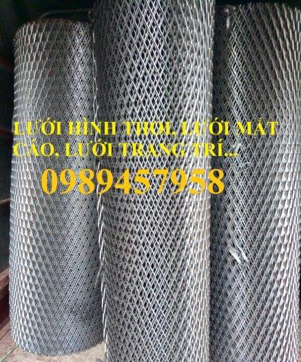 Sản xuất lưới thép dập giãn, Lưới hình thang, Lưới dập giãn inox3
