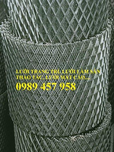 Sản xuất lưới thép dập giãn, Lưới hình thang, Lưới dập giãn inox2