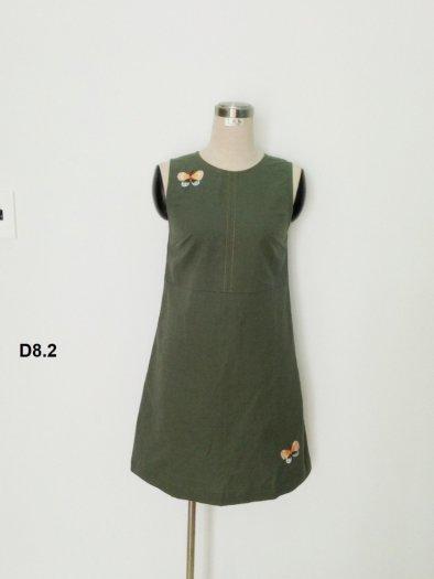 Đầm suông thêu họa tiết hình bướm đáng yêu thời trang tự thiết kế D8.22