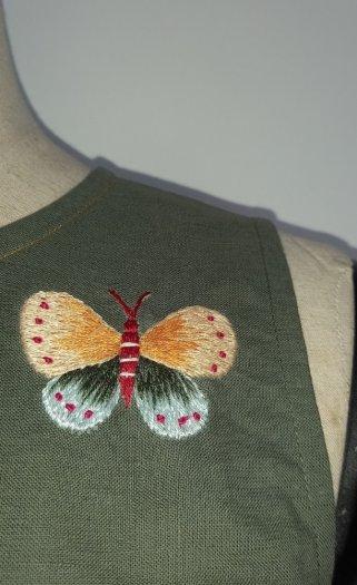 Đầm suông thêu họa tiết hình bướm đáng yêu thời trang tự thiết kế D8.21