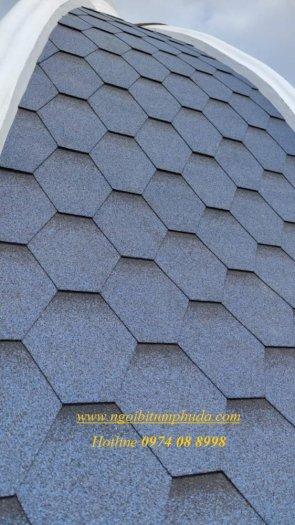 Tấm lợp nhựa đường giả đá, ngói giả đá lợp mái biệt thự, tấm lợp bitum dán mái hình cầu11