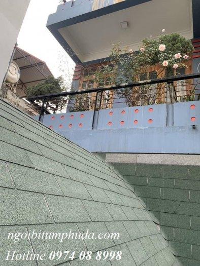 Ngói lợp nhà bungalow, tấm lợp nhựa đường cho nhà lắp ghép, ngói giả đá giá rẻ13