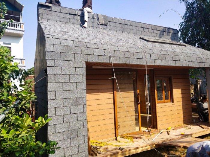 Ngói lợp nhà bungalow, tấm lợp nhựa đường cho nhà lắp ghép, ngói giả đá giá rẻ11