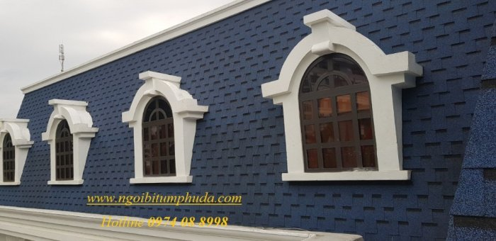 Ngói lợp nhà bungalow, tấm lợp nhựa đường cho nhà lắp ghép, ngói giả đá giá rẻ10