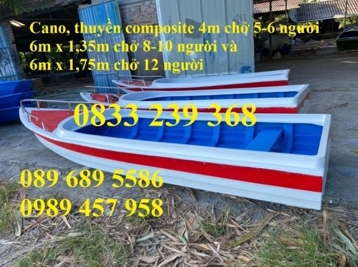 Thuyền composite chở 4-6 người2