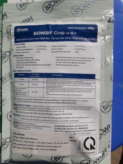 Phân bón Biowish vi sinh nhập khẩu usa4