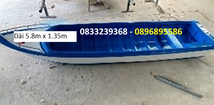 Thuyền composite vận tải hàng hóa, cứu hộ tải trọng 1400kg(kèm áo phao cứu sinh)2