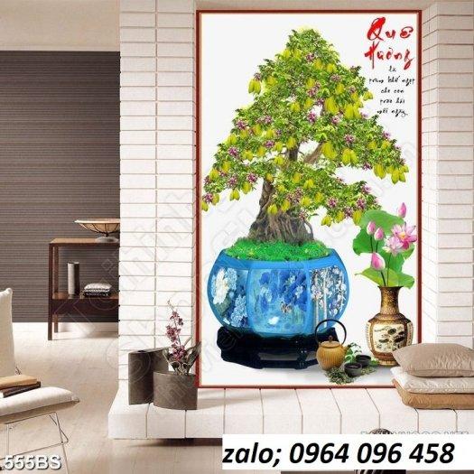 Tranh cây mai - tranh gạch 3d cây mai - GC336