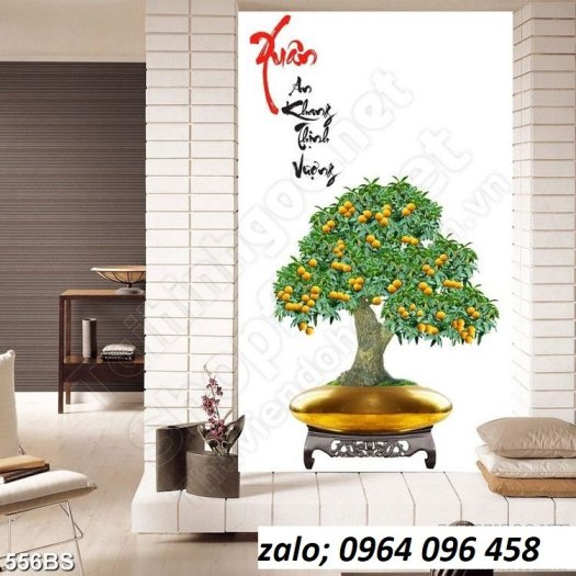 Tranh cây mai - tranh gạch 3d cây mai - GC335